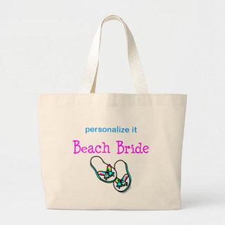 Beach Bride Tote Canvas Bag