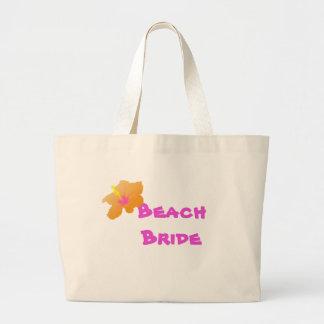 Beach Bride Tote Bag:  Hibiscus Design