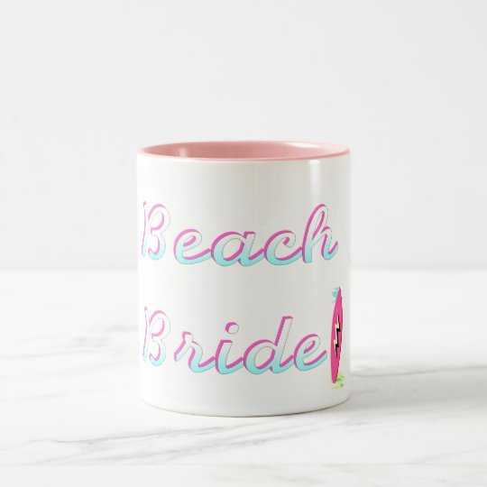 Beach Bride Two-Tone Coffee Mug