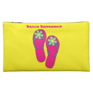 Beach Bridesmaid Makeup Bags:  Flip Flop Design Makeup Bag