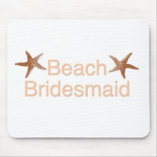 Beach Bridesmaid Starfish Design Mouse Pad