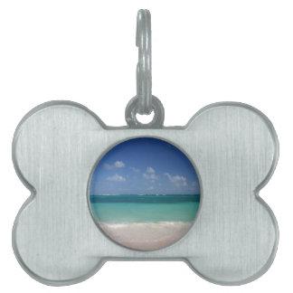 Beach Broken Waves Pet ID Tags