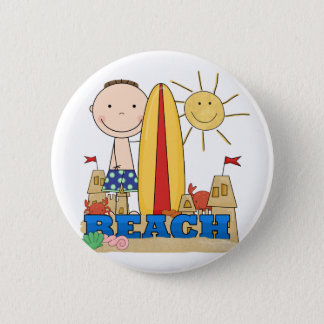 BEACH Brunette Boy Tshirts and Gifts Button