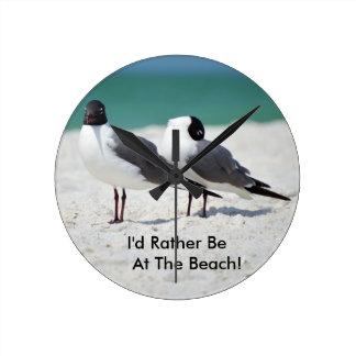 Beach Buddies Round Clock