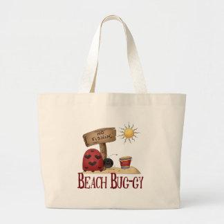 Beach Bug-gy Large Tote Bag