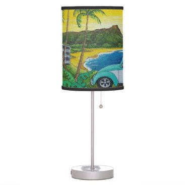 beach bug teal desk lamp