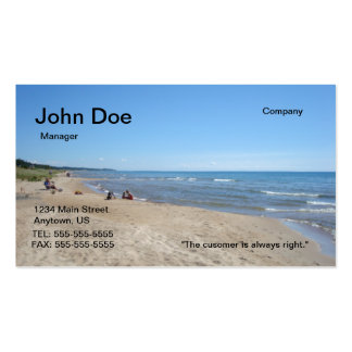 Beach buisness card Double-Sided standard business cards (Pack of 100)