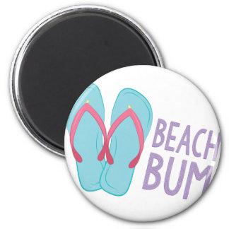Beach Bum 2 Inch Round Magnet
