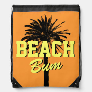 Beach bum bag | palm tree drawstring backpack backpacks