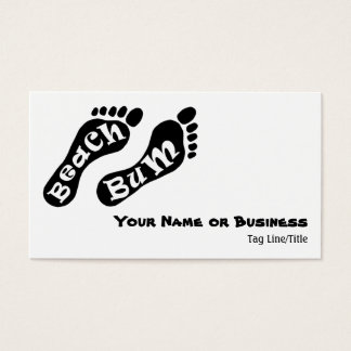 Beach Bum Barefoot Business or Personal Cards