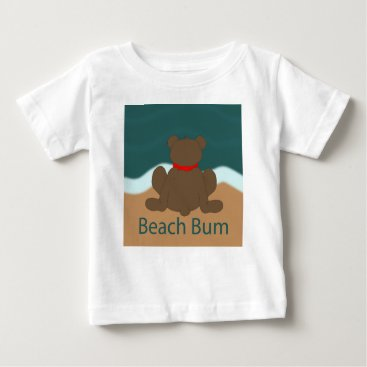 Beach Themed Beach Bum Bear Baby T-Shirt