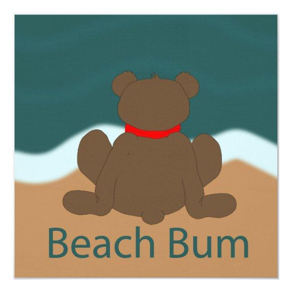 Beach Bum Bear Card