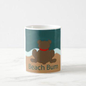 Beach Themed Beach Bum Bear Coffee Mug