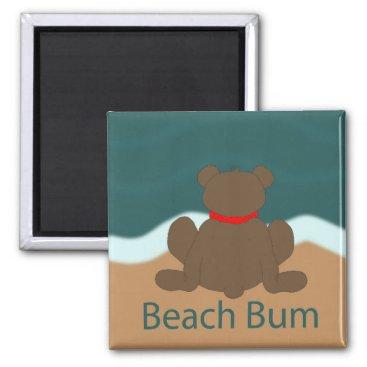Beach Themed Beach Bum Bear Magnet