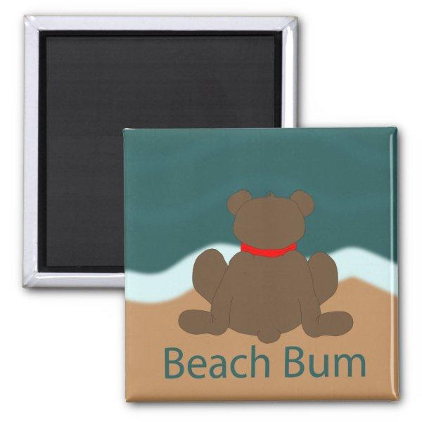 Beach Bum Bear Magnet