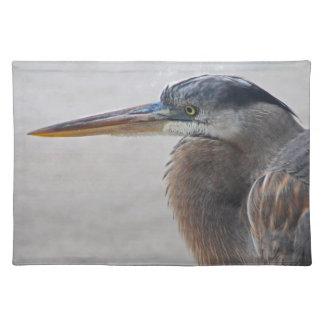 Beach Bum (blue heron) Cloth Placemat