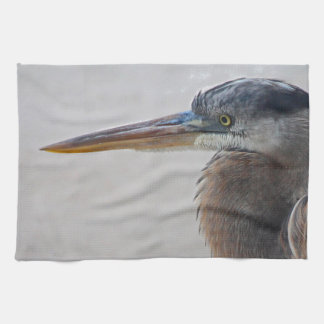 Beach Bum (blue heron) Hand Towel