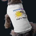 """Beach Bum by SRF T-Shirt<br><div class=""""desc"""">Big Jake just LOVES walking the beach ! In fact, it&#39;s almost embarrassing, because he starts screaming bloody murder when it&#39;s time to walk up the steps to go home. People look at me like I&#39;m hurting him ! I am NOT touching him. He really does just start screaming. Spoiled...</div>"""