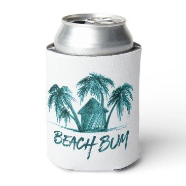 Beach Themed Beach Bum Can Cooler
