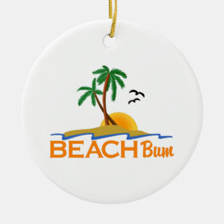 Beach Bum Ceramic Ornament