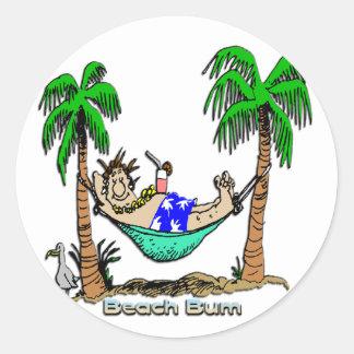 Beach Bum Classic Round Sticker