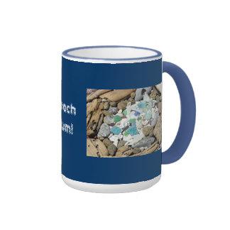 Beach Bum! Coffee Mug gifts Shells Sea Glass Agate