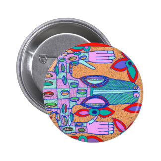 Beach Bum Croc Pinback Button