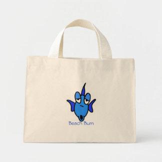 Beach Bum Fish blue Tote Bags