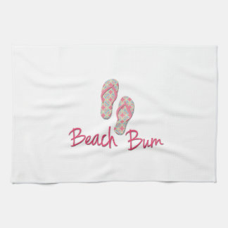 Beach bum flip flop design! kitchen towel