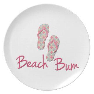 Beach bum flip flop design! dinner plate