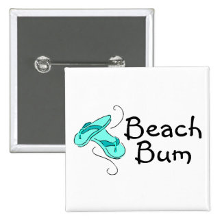 Beach Bum Flip Flops Pinback Button