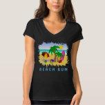 Beach Bum Fun Colorful Womens Long Sleeve T-Shirt