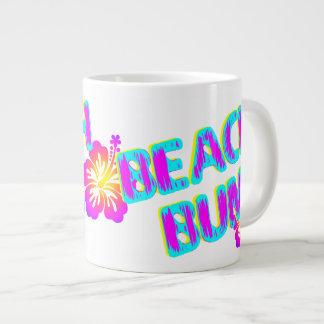 Beach Bum Funny Saying Pink Extra Large Mugs