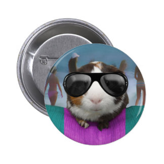 Beach bum guinea pig button