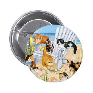 Beach Bum Kittens Button