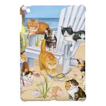 Beach Themed Beach Bum Kittens Hard Shell iPad Mini Case