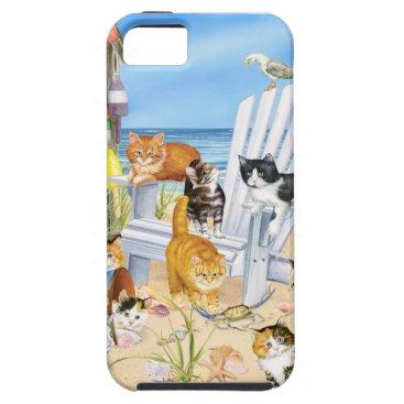 Beach Themed Beach Bum Kittens iPhone SE and iPhone 5/5s Case