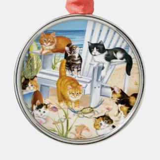 Beach Bum Kittens Ornament