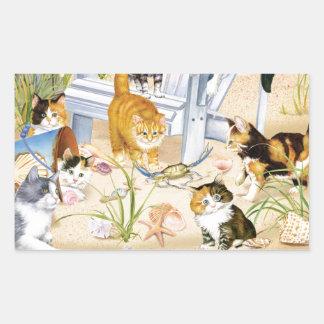 Beach Bum Kittens Sticker