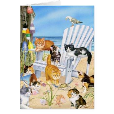 Beach Themed Beach Bum Kitties! Card