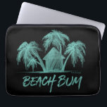 "Beach Bum Laptop Sleeve<br><div class=""desc"">Made especially for the beach bums,  is this simple sketch of a cabana snuggled among palm trees. You know the beach and those ocean waves can't be far away. A peaceful,  tropical place that you would much rather be.</div>"