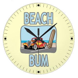 Beach Bum Large Clock
