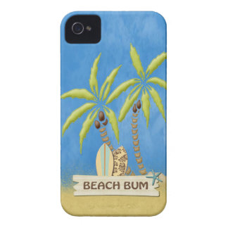 Beach Bum,  Palm Trees and Surfboards iPhone 4 Case