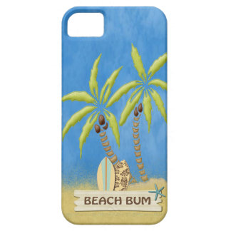 Beach Bum,  Palm Trees and Surfboards iPhone SE/5/5s Case
