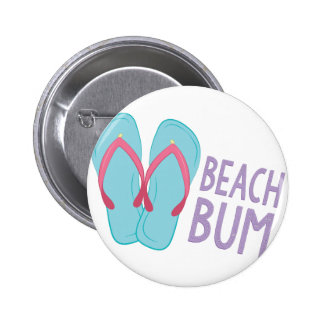 Beach Bum Pinback Button