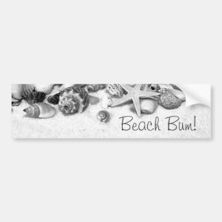 Beach Bum Shells & Starfish Bumper Sticker Car Bumper Sticker