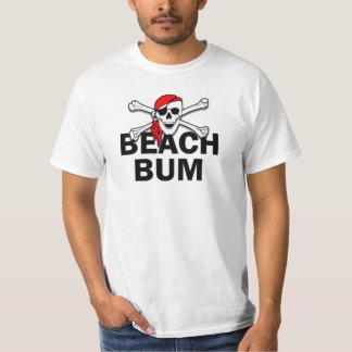 Beach Bum Skull and Crossbones Pirate T-Shirt