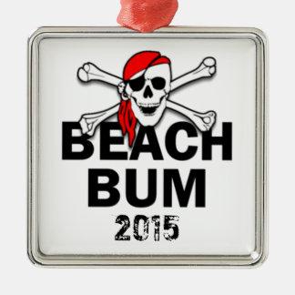 Beach Bum Skull Pirate with Year Ornament