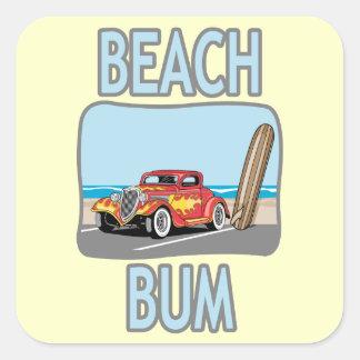 Beach Bum Square Sticker