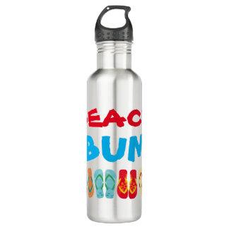 Beach Bum  Summer Beach Theme Flip Flops Water Bottle